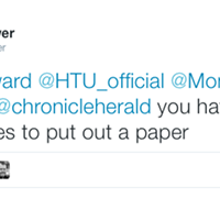 The Chronicle Herald is getting snippy on Twitter