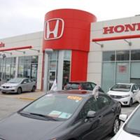 Rob Steele's new Honda dealership on Robie Street.