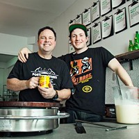 Father-son team Neil and Max Cook, owners of Portland Street Creperie.