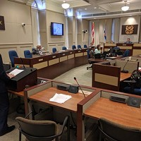 Right to Know Coalition president Michael Karanicolas speaking to HRM's Executive Standing Committee on May 16, 2016. Visit nsrighttoknow.ca.