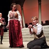 James MacLean, Emma Slipp and Jackie Torrens in Goodnight Desdemona (Good Morning Juliet).