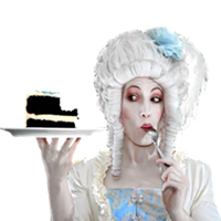 Busker Kate Mior (acting as Marie Antionette) will have her cake and eat it too at the Westin's Busker brunch (see five).