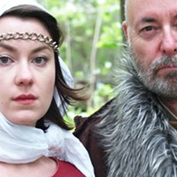 Lear and Cordelia are played by IRL daughter-father team Catherine and Paul Rainville.