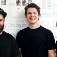 Sidestory's founders, from left, Brian Jeffcock, Ben Decoste and Gavin Uhma.