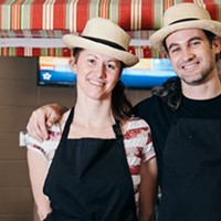 "Deanna Leedham and Marcel Nazabal Amores serve up ""all local, all fresh"" meals."