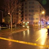 Police tape surrounds the crime scene on Gottingen.