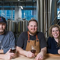 Mark Huizink, Jeremy Taylor and Kelly Huizink are pumped to bring you 2 Crows Brewing.