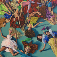 Artist Megan Connors paints pop culture's portrait (see 1).