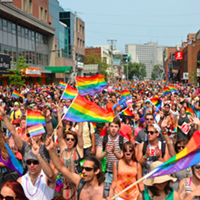 The Halifax Pride parade two years ago on Spring Garden Road.