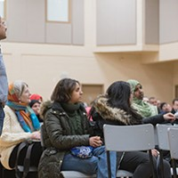Attendees at the Ummah Masjid's interfaith event this past weekend.