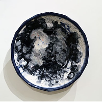 Kaashif Ghanie uses ceramics like canvas at his Craig Gallery show (see 10).