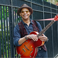 Blues legend Guy Davis brings his finger-picking guitar style to Halifax (see 1).
