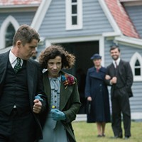 Sally Hawkins portrays Maud Lewis, while Ethan Hawke plays her (terrible, abusive) husband.