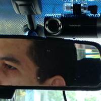 A $100 Best Buy-bought dashboard camera on a Halifax taxi.