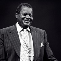 Portrait photograph of Oscar Peterson, taken in New York in 1977.