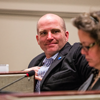 Councillor Matt Whitman at City Hall.