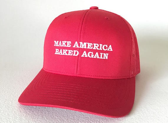 Donald Trump doesn't have this version of the #MAGA hat, but you can grab one on Etsy. - SMOKIESTOKECOUTURE