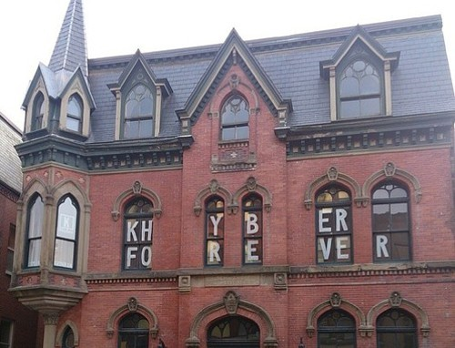 The heritage property at 1588 Barrington still sits empty, awaiting its fate. - VIA FRIENDS OF THE KHYBER