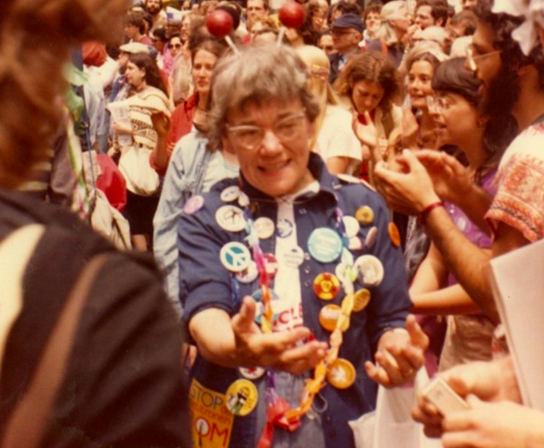 Peterson, attending the June 12 1982 Peace March in New York City. - CANADIAN MUSEUM OF IMMIGRATION AT PIER 21