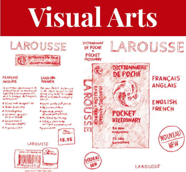 Emma Allain attempts to re-create her lost French-English dictionary at the Port Loggia Gallery. - EMMA ALLAIN ARTWORK