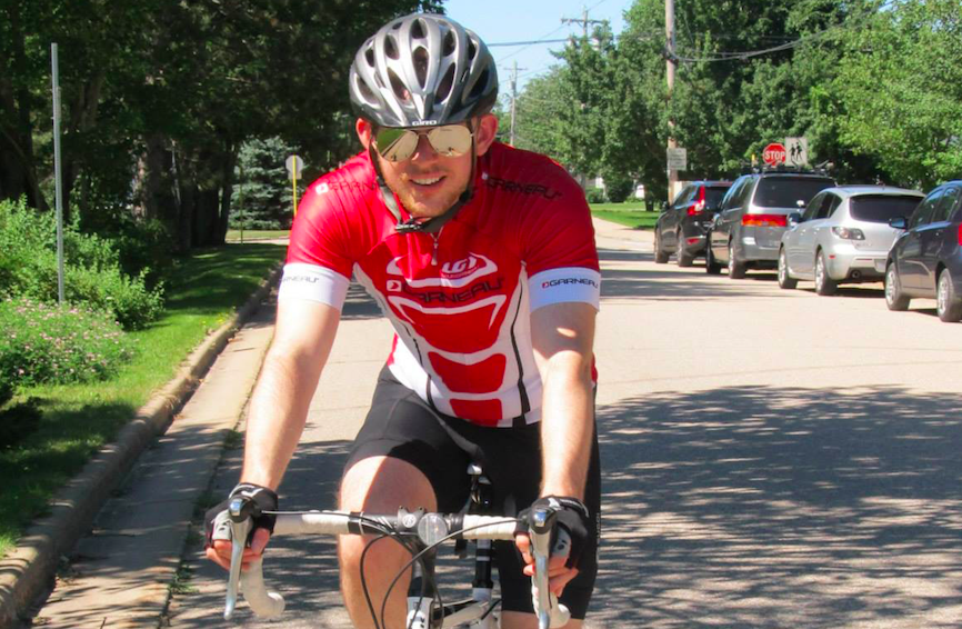Steward Rand, pictured cycling. - SUBMITTED