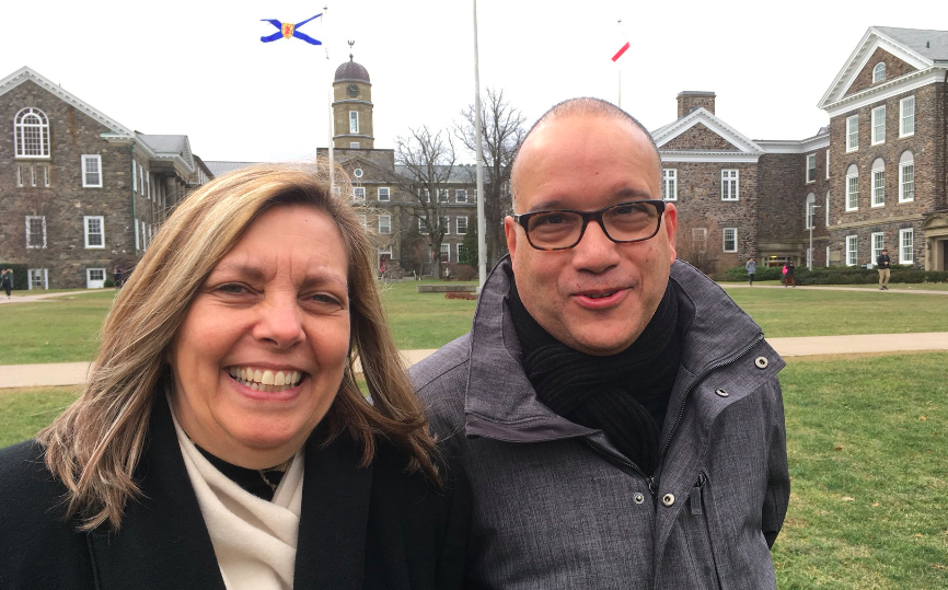 Josefina Vidal with Dalhousie prof Isaac Saney (right) during her visit to Nova Scotia. - CREDIT VIA TWITTER