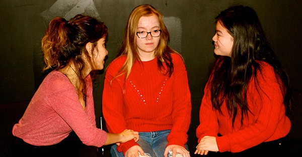 Aylin Sozdinler, Ella Buckler and Mai To get real in Concord Floral. - EMILY PETTET