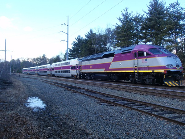 Commuter rail cars run by the Massachusetts department of transit. - MASS DOT
