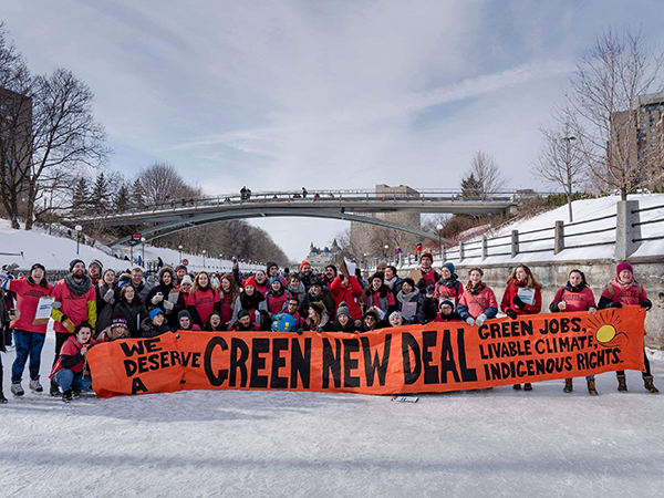 Organizers skated their ideas to the PowerShift youth climate conference in February. - ALLAN LISSNER
