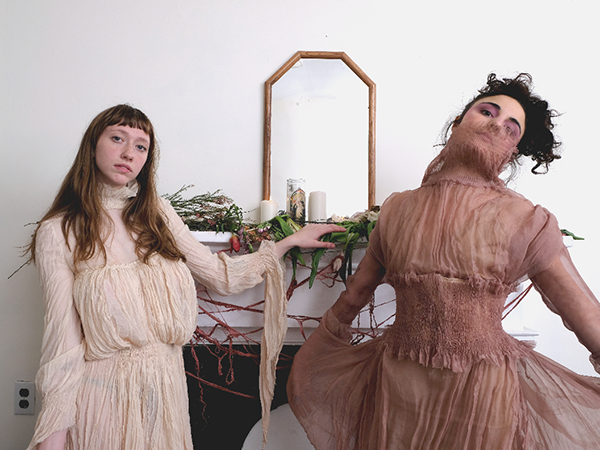 """""""Ideal"""" (right) Miriam Rose and """"Isolation"""" (left) modelled by Abby Han - MIRIAM ROSE"""