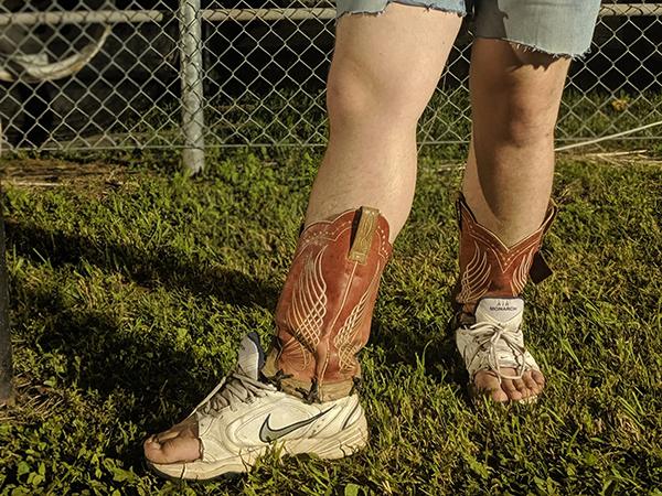High boot-scootin' fashion.