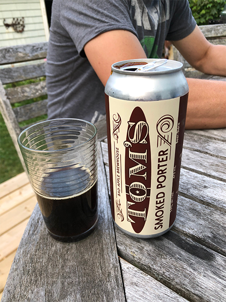 Tom's Smoked Porter from Bad Apple Brewhouse: Dark like a long shot of espresso. - THE COAST