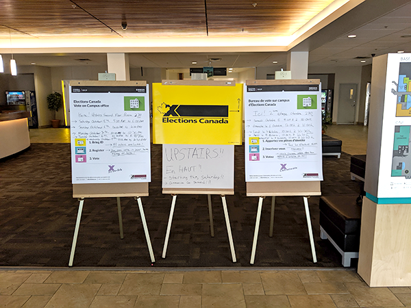 Dalhousie University's special ballot voting takes place in the Student Union Building. - THE COAST