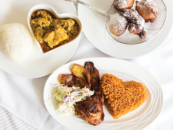 Franyz Kitchen serves up classic Nigerian staples: Egusi, jollof rice, puff puff and more. - CAROLINA ANDRADE
