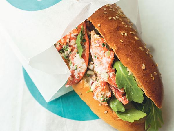 LF Bakery's lobster roll hits the spot for lunch on Gottingen Street. - IAN SELIG