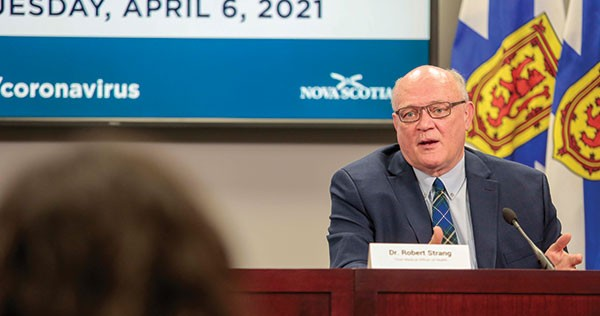 """Top doc Strang on the loosened rules: """"the situation in Nova Scotia could change quickly if we let our guard down."""" COMMUNICATIONS NOVA SCOTIA"""
