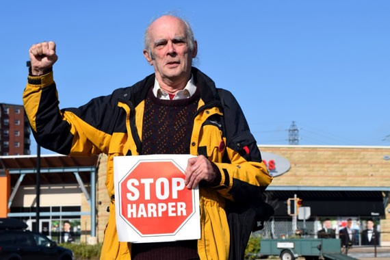 Allan Bezanson parties hard as Halifax's Marxist-Leninist candidate. - EMMA JONES