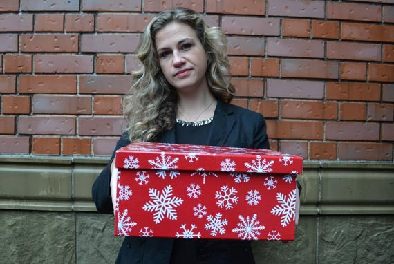 Mary Chisholm, coordinator of the Halifax Shoebox Project, wants to show someone cares. - REBECCA DINGWELL