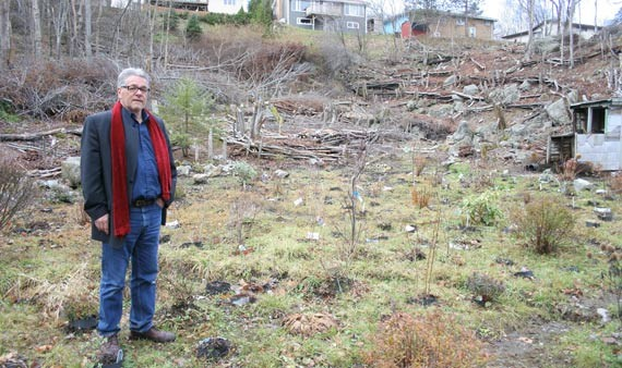 Mel Slade and his (in progress) community garden. - JONATHAN BRIGGINS