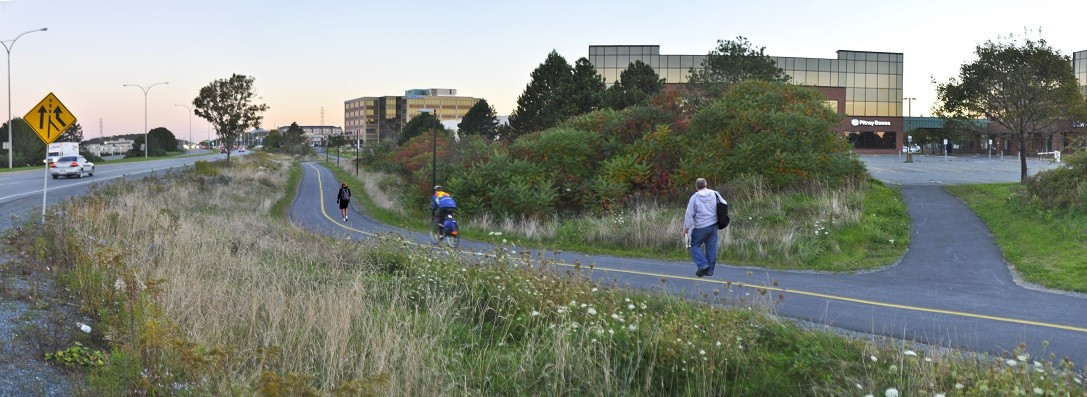 The AT trail along Burnside Drive near the Ramada Hotel. - HRM
