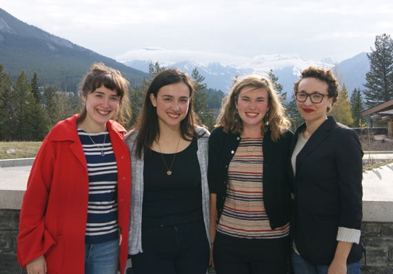 GUTS editors Nadine Adelaar, Cynthia Spring, Natalie Childs and Rebecca Blakey.