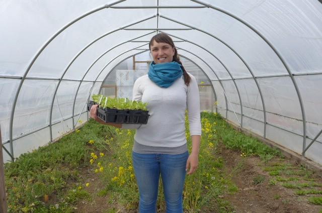 Common Roots Urban farmer Sara Burgess - NICOLA PARKER