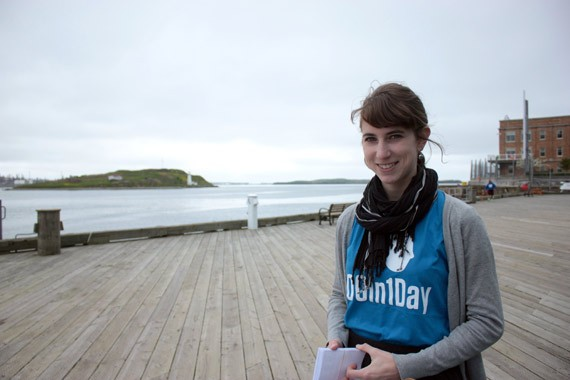 Laura Cutmore is the Halifax riding lead for the #PeoplesClimatePlan and recently led the Climate Messengers intervention for 100In1Day Halifax in support of the campaign. - KATHLEEN HARPER