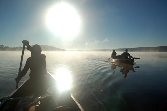 Paddlers enjoy a trip through the pristine Blue Mountain-Birch Cove Lakes. - TRISTAN GLEN