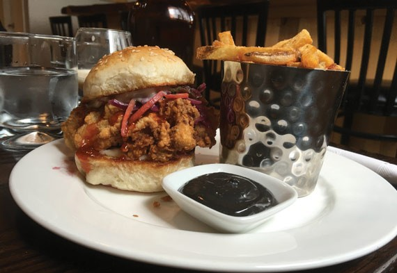 Black Sheep's fried chicken sandwich is one of the best in town.