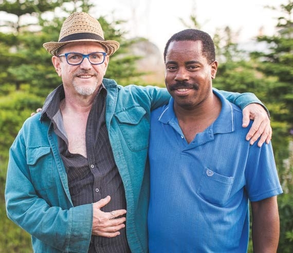 Robin Metcalfe and partner Wesley Riley. - DYLAN CHEW