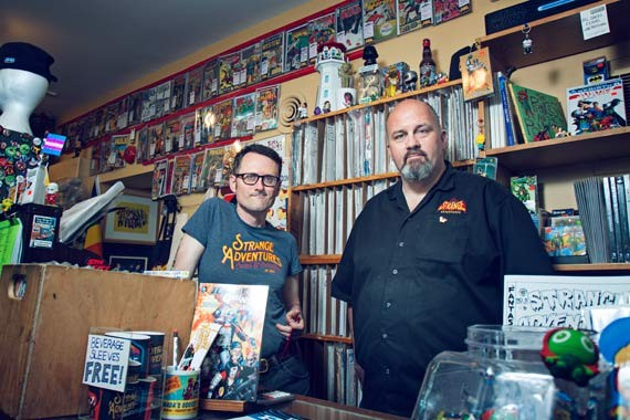 Howlett and Johnston hold down the comics fort at Strange Adventures. - LENNY MULLINS