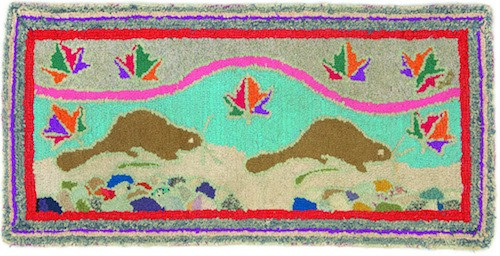 A hooked rug, circa 1940, on display at the Mount's Home Economics exhibition (see number 8). - COURTESY OF MOUNT SAINT VINCENT UNIVERSITY ART GALLERY