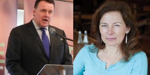 Incumbent mayor Savage (in 2012) and challenger MacPherson. - THE COAST