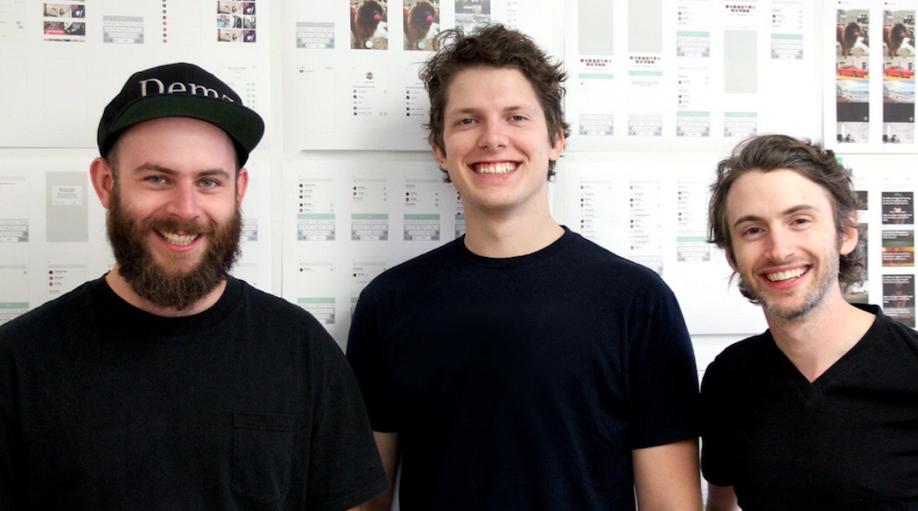 Sidestory's founders, from left, Brian Jeffcock, Ben Decoste and Gavin Uhma. - JEFF ANDERSEN